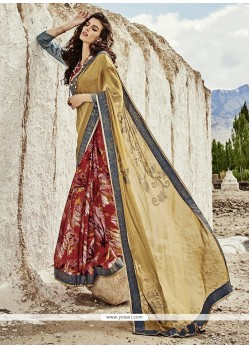 Resplendent Georgette Print Work Printed Saree