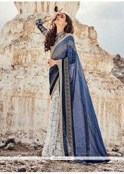 Astonishing Georgette Print Work Printed Saree
