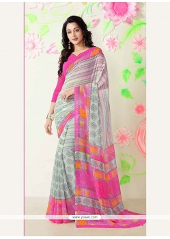 Excellent Multi Colour Printed Saree