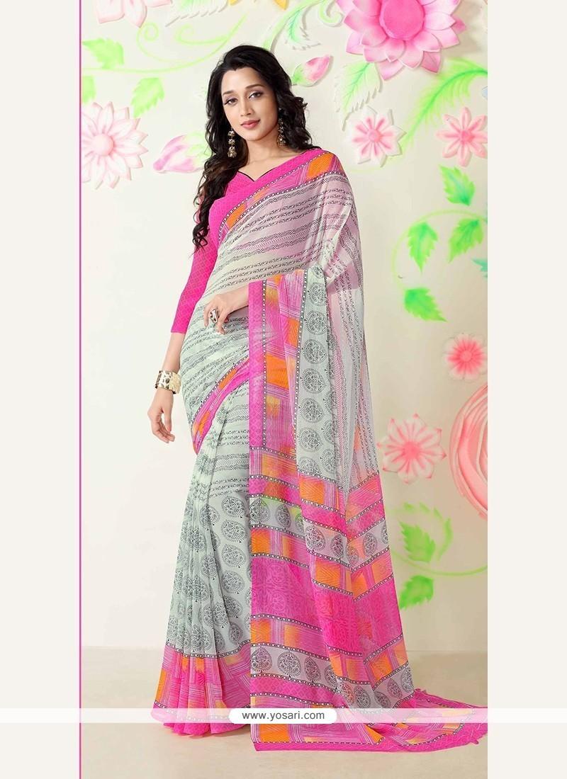 Excellent Multi Colour Printed Saree