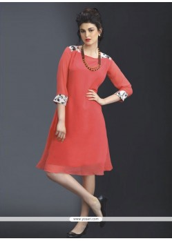 Splendid Pink Party Wear Kurti
