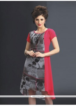 Praiseworthy Print Work Party Wear Kurti