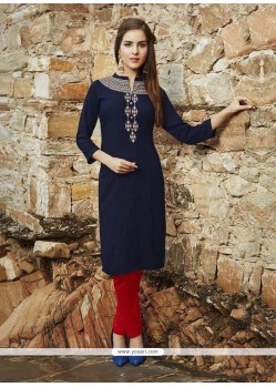 Phenomenal Rayon Embroidered Work Party Wear Kurti