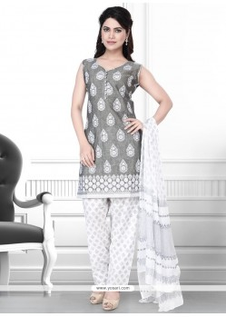 Voguish Cotton Pant Style Suit