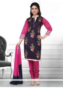 Exceptional Embroidered Work Churidar Designer Suit