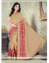 Orphic Embroidered Work Faux Chiffon Trendy Saree