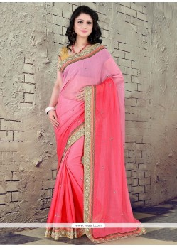 Amusing Faux Chiffon Trendy Saree