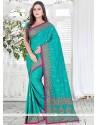 Sterling Bhagalpuri Silk Embroidered Work Designer Saree