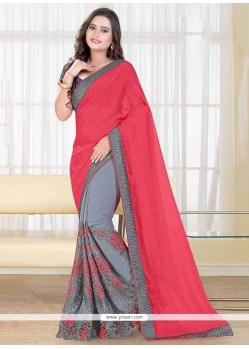 Riveting Grey Designer Saree