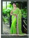 Epitome Patch Border Work Net Designer Saree