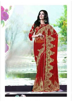 Competent Red Designer Traditional Sarees