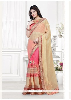 Specialised Lycra Patch Border Work Traditional Saree