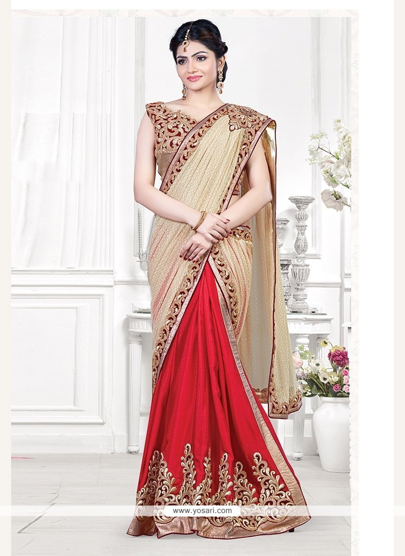 Radiant Abstract Print Work Designer Traditional Sarees
