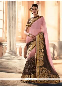 Adorning Patch Border Work Classic Designer Saree