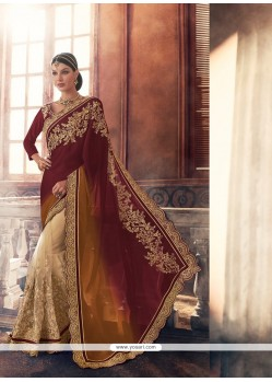Distinguishable Net Patch Border Work Classic Saree