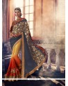 Attractive Georgette Embroidered Work Traditional Saree