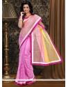 Exceptional Pink Supernet Saree