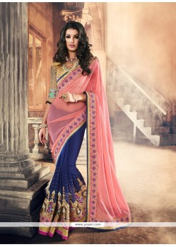 Staggering Lycra Patch Border Work Classic Saree
