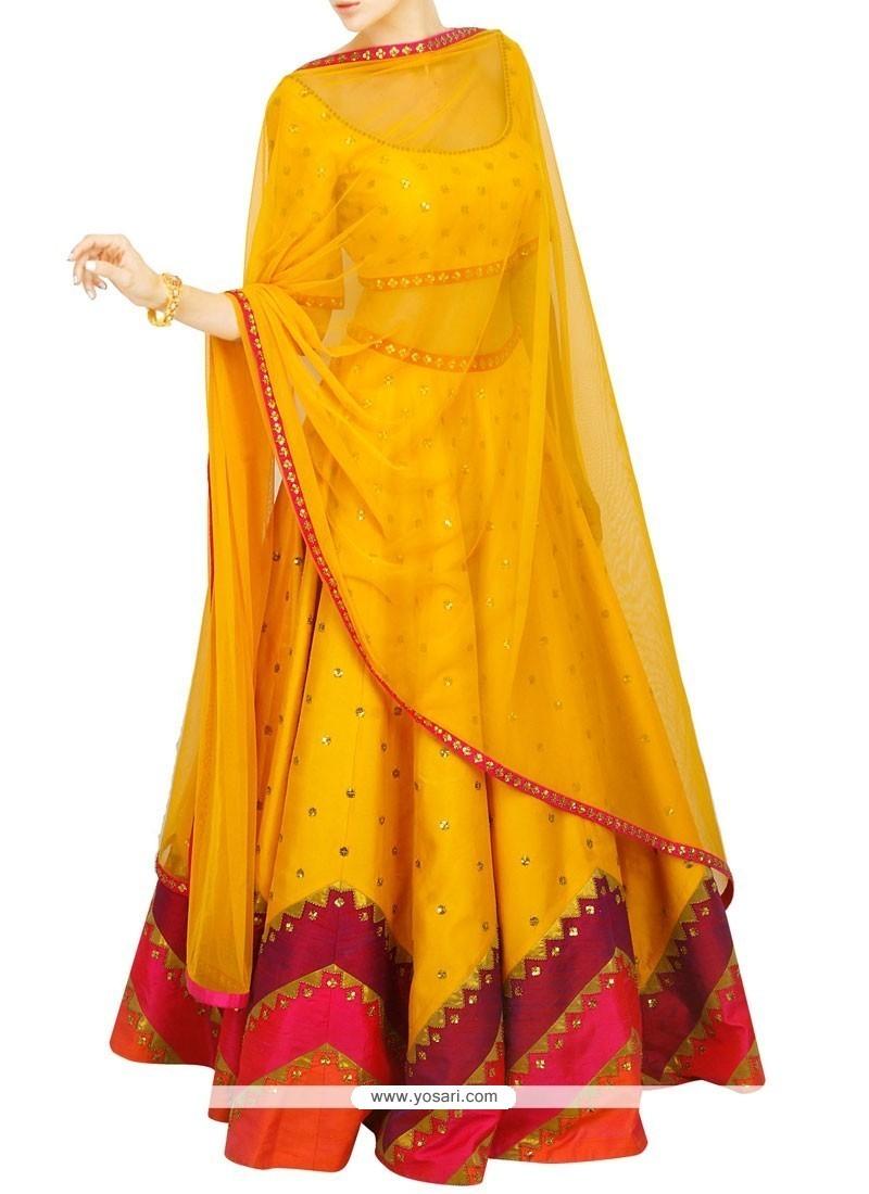 Strange Raw Silk Designer Lehenga Choli