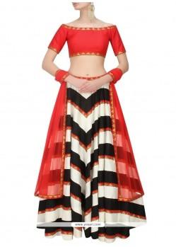 Honourable Raw Silk Print Work Designer Lehenga Choli
