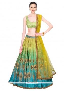 Exotic Net Multi Colour Designer Lehenga Choli