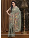 Lovely Beige Bhagalpuri Silk Saree