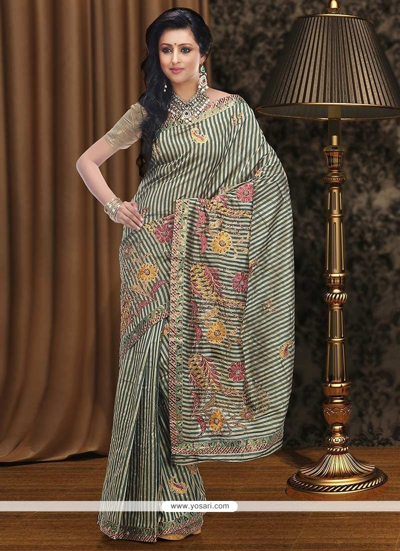 Lovely Beige Bhagalpuri Silk Saree