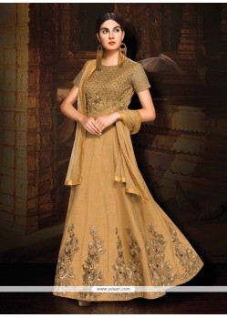 Catchy Beige Designer Floor Length Suit