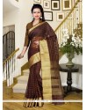 Outstanding Patch Border Work Maroon Silk Classic Saree