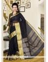 Delightful Silk Patch Border Work Designer Saree