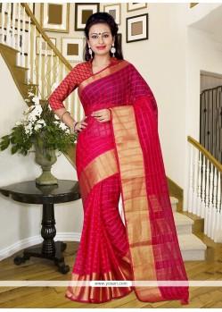 Glorious Silk Hot Pink Saree