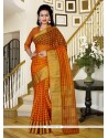 Charming Patch Border Work Silk Classic Saree