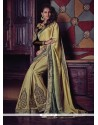 Girlish Beige Designer Half N Half Saree