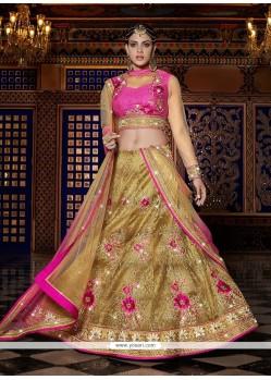 Majestic Hot Pink A Line Lehenga Choli