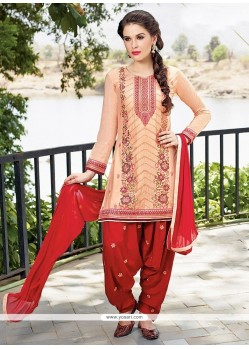 Ethnic Embroidered Work Designer Patiala Salwar Kameez