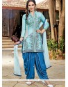 Grandiose Embroidered Work Designer Patiala Salwar Kameez