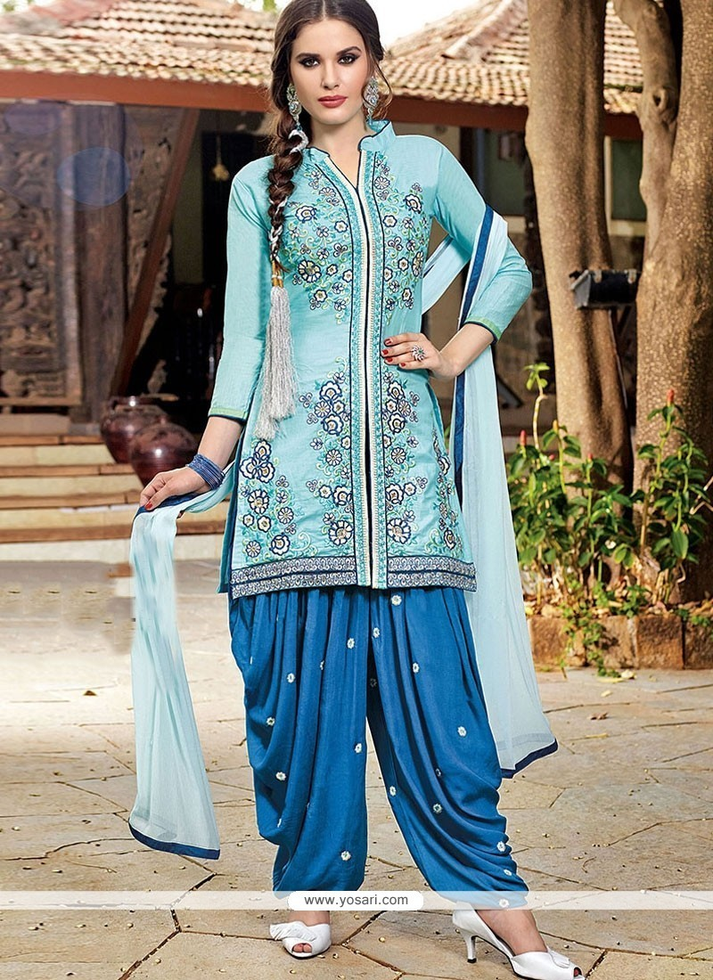 Buy Grandiose Embroidered Work Designer Patiala Salwar Kameez
