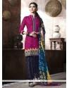 Enticing Magenta Punjabi Suit