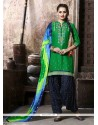 Snazzy Cotton Embroidered Work Punjabi Suit