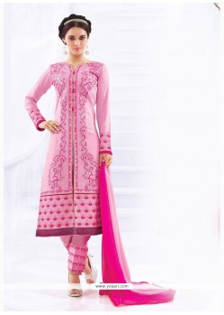 Impressive Embroidered Work Cotton Churidar Designer Suit