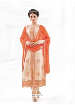 Vivid Cotton Embroidered Work Churidar Designer Suit