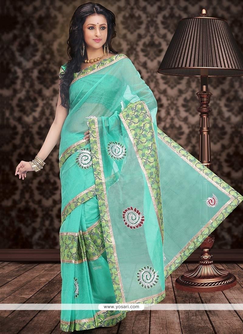 Elite Green Chanderi Cotton Saree