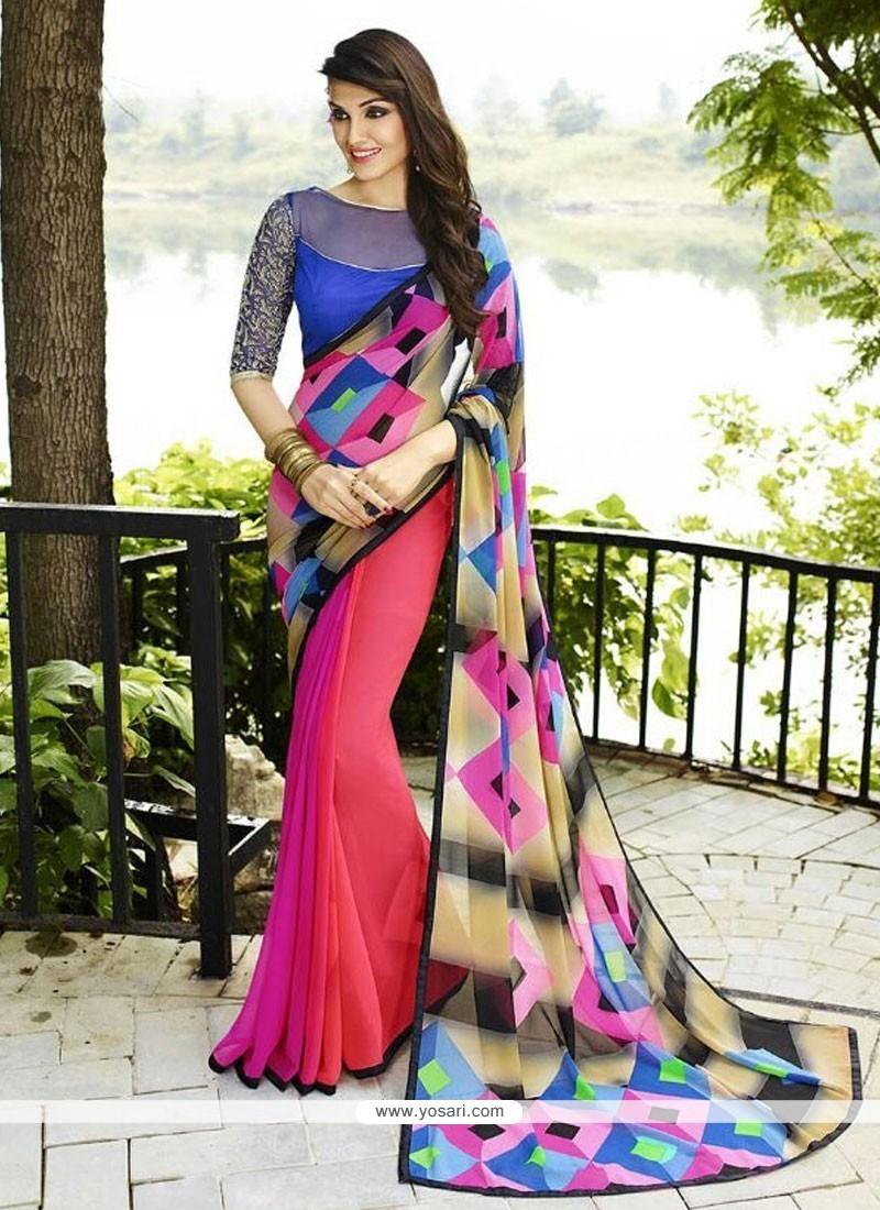 Best Multi Colour Designer Saree