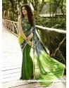 Mesmerizing Georgette Green Designer Saree