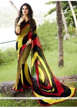 Monumental Multi Colour Georgette Designer Saree