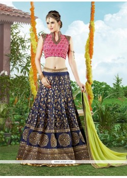 Exceptional Silk Embroidered Work A Line Lehenga Choli