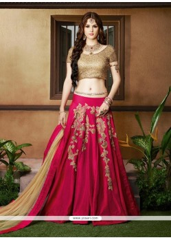 Masterly Silk Resham Work A Line Lehenga Choli