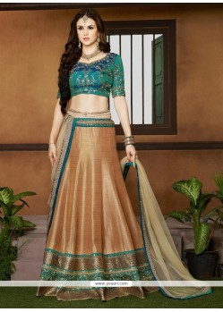 Lovely Silk Embroidered Work A Line Lehenga Choli