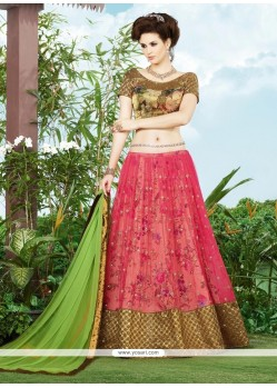 Sunshine Patch Border Work Net A Line Lehenga Choli