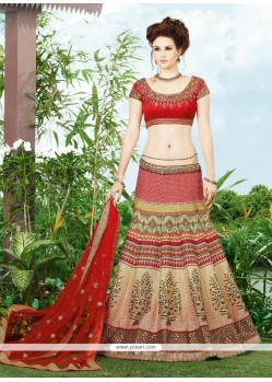 Masterly Patch Border Work Multi Colour A Line Lehenga Choli